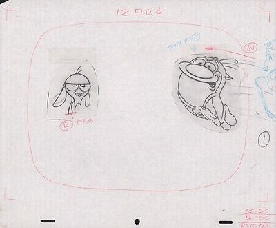 REN & STIMPY Original Production Cel Cell Drawing Animation Art Rubber Nipple