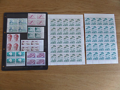 Chile 1966-72 Collection of unmounted mint blocks and sheets