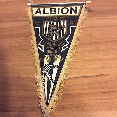 West Bromwich Albion Wba  Football Large  Coffer Pennant 1968