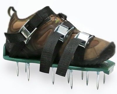 Premium Garden Aerator Shoes by Arudge - With Metal Spikes, Universal Fit
