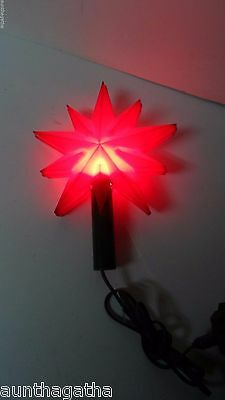 Old TIMCO C-7 RED STAR Lighted Christmas Tree Top