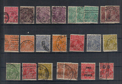 Australia George V Small collection of used values