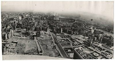 Ww2 Era Orig. Photo London Blitz Looking East From St Pauls With Tower Bridge