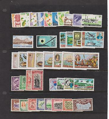COOK ISLANDS - SMALL COLLECTION ON STOCK CARDS  (See Description)