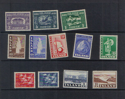 Iceland 1930-57 Mint collection