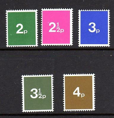 Early 1970s GB Post Office Training Stamps Set of 5 - MNH Unmounted Mint