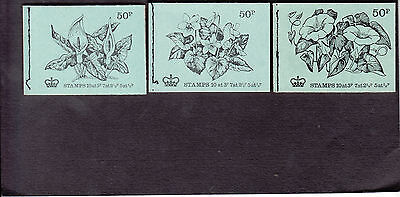 50p Stitched booklets (qty 3), February 1971, February/May 1972