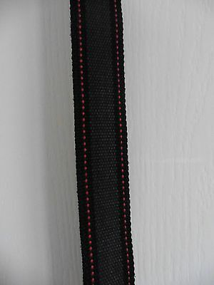 Boys Grey, Black & Red Material Belt 29 1/2 inches long