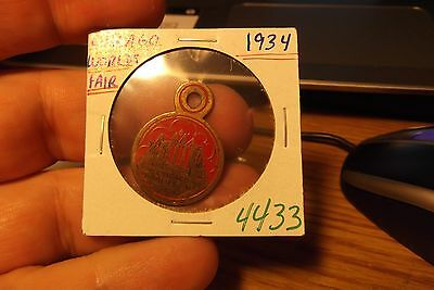 1934 Chicago Worlds Fair Pendant .. 4433 .. Free Shipping