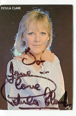 Petula Clark Singer, 2 Different Signed Cards