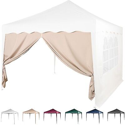 Side Wall Pavilion 3x3m Pop-up tent with zip 6 Colours