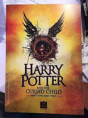 Harry Potter And The Cursed Child Parts 1&2 London Theater Playbill / Program