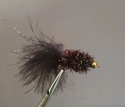 Black Mosiac Fritz Trout Buzzers Trout Lures Fly Fishing Trout Flies