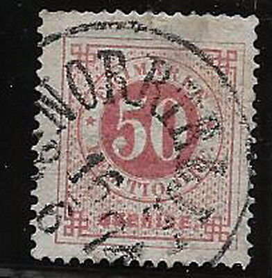 Sweden. 1872/9. 50 ore. P14. Used.