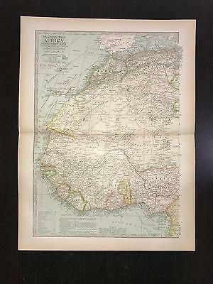 Antique 1897 Map - No. 111 Africa North West Part
