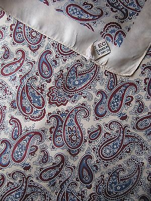 Vintage ECHO Paisley silk handkerchief 51 x 51 cm  good condition