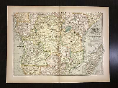 Antique 1897 Map - No. 112 Africa Central Part