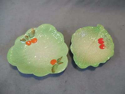 2 x Vintage Beswick And Carlton Ware Cabbage/Lettuce Leaf Dishes
