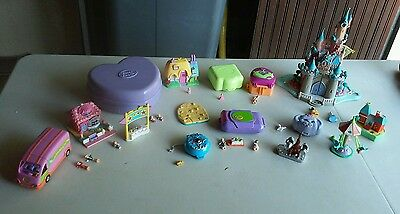 gros lot polly pocket bluebird + 1 disney +personnages et animaux