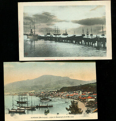 Martinique 2 Early Shipping Postcards