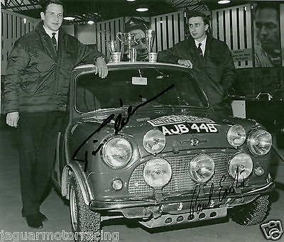 Timo Makinen And Paul Easter Hand Signed Mini Monte Carlo Rally Car Photograph