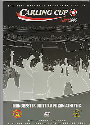2006 League Cup Final.Manchester United v Wigan Athletic.