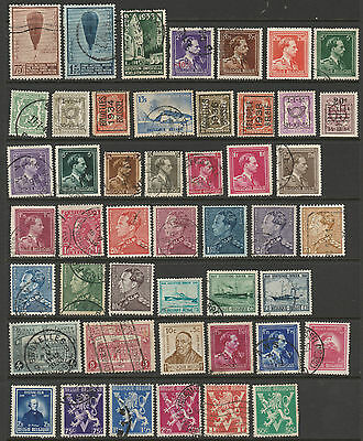 Belgium 47 stamps mixed condition, mint or used