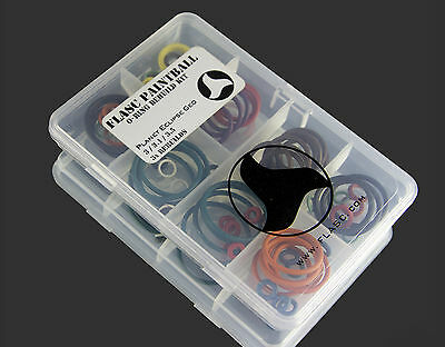 Planet Eclipse GEO 3 / 3.1 / 3.5 3x color coded o-ring kit by Flasc Paintball