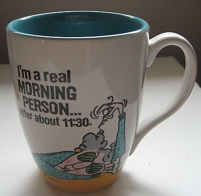 Maxine Coffee Cup I'm a Real Morning Person after 11:30 Hallmark Mug WAGNER HMK