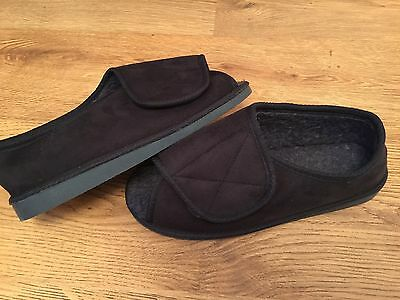 NEW DISABILITY wide fit blue open toe/velcro shoes Size 8