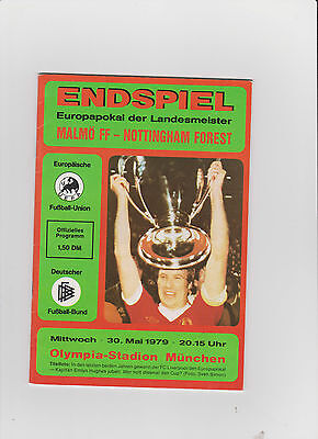1979 European Cup Final.Malmo v Nottingham Forest.