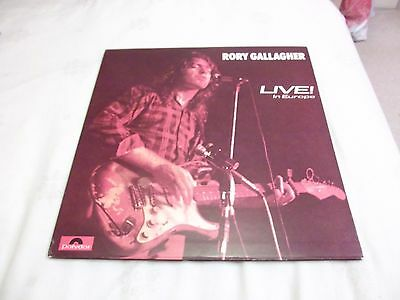 "Rory Gallagher "" Live In Europe "" Uk Polydor Record Label Press 2383-112"