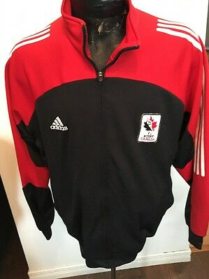 Adult LARGE ADIDAS Rugby LONG SLEEVE ZIP FRONT WARM UP JACKET RUGBY CANADA