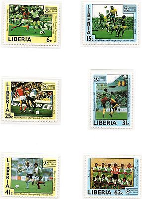 1986 LIBERIA Football World Cup Mexico set SG1605/10 unmounted mint
