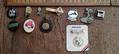 A Collection Of Vintage Badges Including Guinness Badge