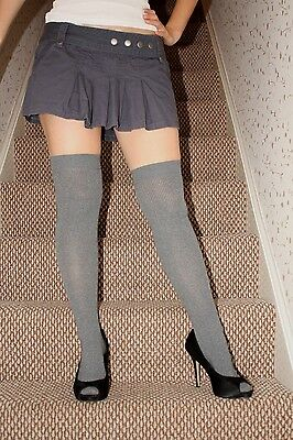 Grey Over The Knee Socks, One Size, Sexy Schoolgirl, Brand New With Tags.