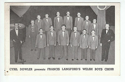 Cyril Dowler Presents Francis Langford's Welsh Boys Choir c1953 Plain Back