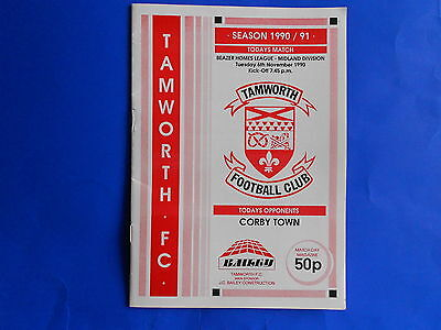 TAMWORTH v CORBY TOWN 1990/91  Southern League Midland Division