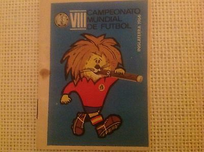Rare 1966 World Cup Fixtures Guide Pocket Booklet