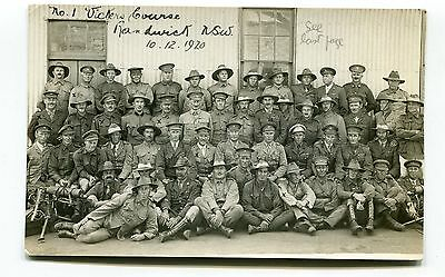 Postcard Australia Randwick Camp N.s.w.  No. 1 Vickers Course. 10/12/1920.