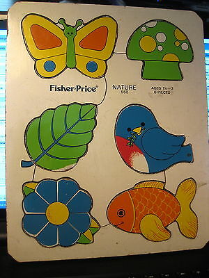 Vintage Fisher Price Nature puzzle # 552 ages 1 1/2 - 3 with 6 pieces
