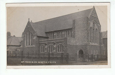 St Francis Church Garston Liverpool Real Photograph 42G Old Postcard Unposted