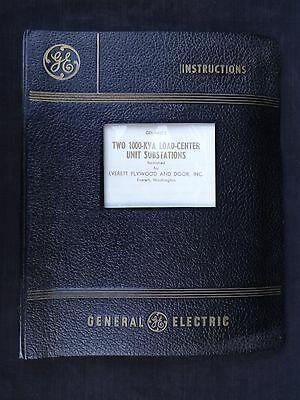 1963 General Electric Instructions Manual Two 1000-KVA Load Center Substations