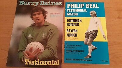 2 - Tottenham Testimonial Matches - Barry Daines & Phil Beal