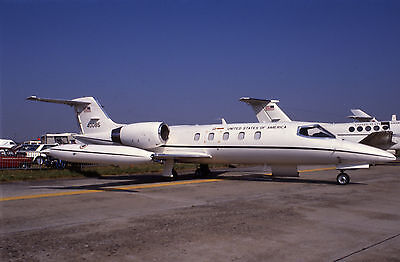 Original Fujichrome 35mm slide of 84-0085 Learjet 35A United States Air Force 89