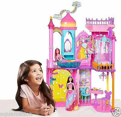 BARBIE Rainbow Cove - Princess Castle Playset (Children/Kid/Doll/House/Toy/Girl)