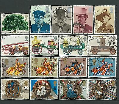 Fine used collection of some 1974 GB commemoratives.