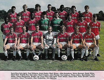 Charlton Athletic Football Team Photo 1987-88 Season
