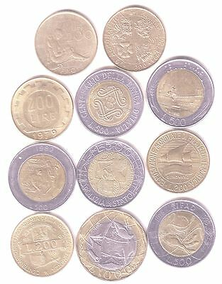 Italy 11* Coins 200, 500, 1000 Lire Coins All Different Some Are Nice Grades