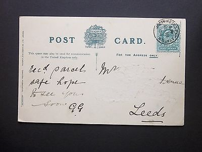 """GB Railway 1904 KEVII 1/2d """"Staithes"""" Postcard ROBIN HOODS BAY STATION s/c"""